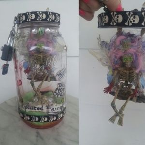 Haunted Evil Captured Fairy in Jar w Master Lock